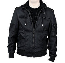 RNZ Premium Designer Men's Faux Leather Jacket - 2 Styles Coats & Jackets M6-Black-S