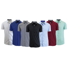 Daily Deals Men's Short Sleeve Dress Shirt (2-Pack) Clothing