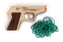Elastic Precision Model PPK Rubber Band Gun with 50 Bands  - UntilGone.com
