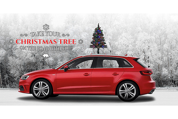 The Car Top Christmas Tree With Color Led Lights Includes All