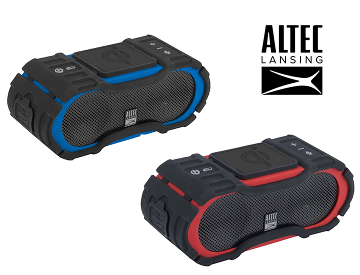 Daily Deals Altec Lansing Boom Jacket Jolt Rugged Bluetooth Speaker with Qi Charging Speakers