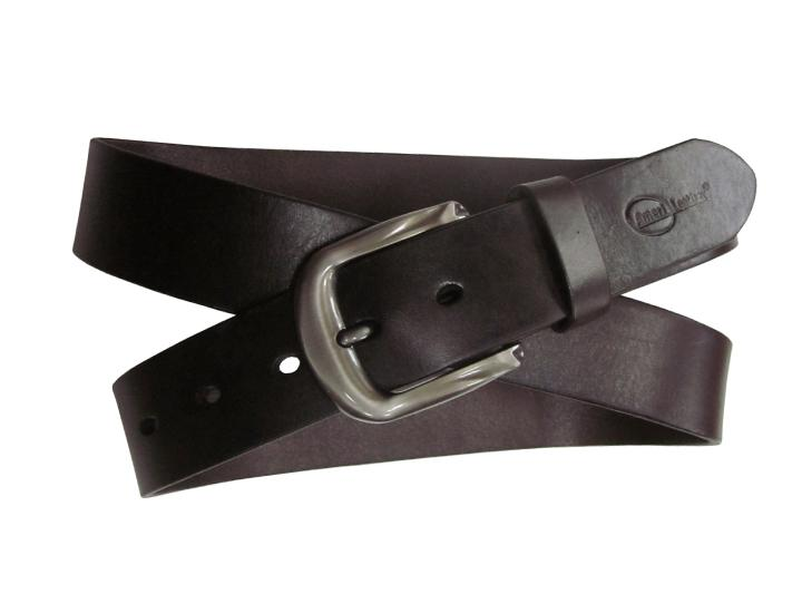 Daily Deals Amerileather Men's Dark Brown Modern Leather Belt Belts
