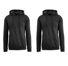 [2-Pack] Men's Fleece Lined Pullover Hoodie Coats & Jackets Black-Black - 4X-Large