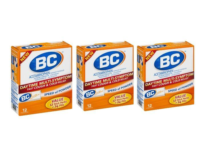 Daily Deals BC Daytime Multi-Symptom Fast Cough & Cold Relief Powders (3-Pack) Medicine & Drugs