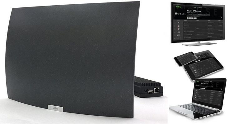 Mohu AirWave Indoor Curved Wireless HDTV Antenna Antennas