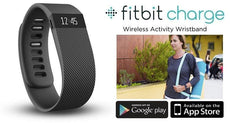 Fitbit Charge Wireless Activity & Sleep Tracking Wristband (Black Large)