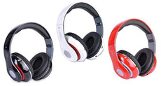 Bluetooth Headphones with Built-In FM Tuner, MicroSD Slot and Mic