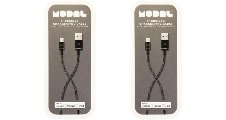 [2-Pack] Modal MFi Certified 4' Braided Apple Lightning Cable  - UntilGone.com