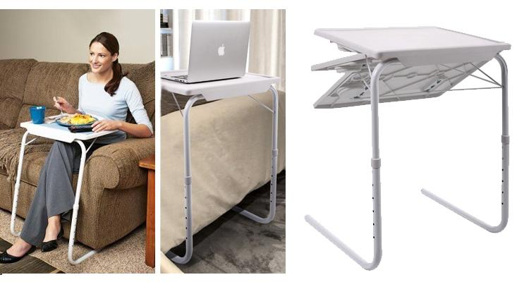 Table Mate Adjustable Folding Tray for Bedside or Sofa