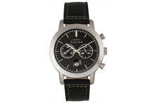 Elevon Langley Chronograph Leather-Band Watch Watches Black/Black Band