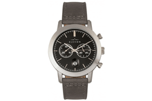 Elevon Langley Chronograph Leather-Band Watch Watches Black/Grey Band