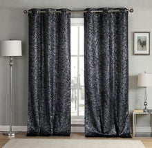 Kensie Sparkle Chic Triple Layered Blackout Curtains (2 Panels)