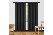 "[2-Panels] Blackout and Thermal Insulation Curtains – 2 Lengths Curtains & Drapes 63"" Length - Black"