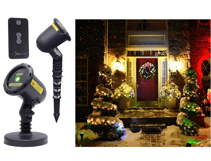 BlissLights Spright Firefly Holiday Motion Laser Lights with Timer Lighting Green