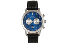 Elevon Langley Chronograph Leather-Band Watch Watches Blue/Black Band