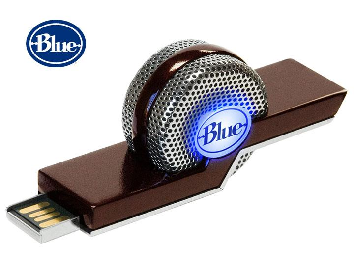 Daily Deals Blue TIKI Noise-Canceling USB Microphone for Skype, Zoom & Recording Microphones