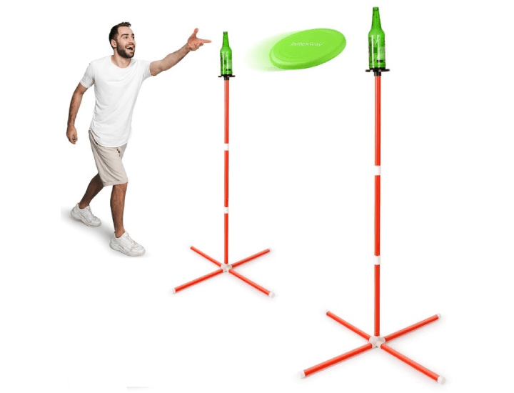 Daily Deals Brite Way Outdoor Bottle Frisbee Toss Game Lawn Games