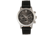 Elevon Langley Chronograph Leather-Band Watch Watches Charcoal/Black Band