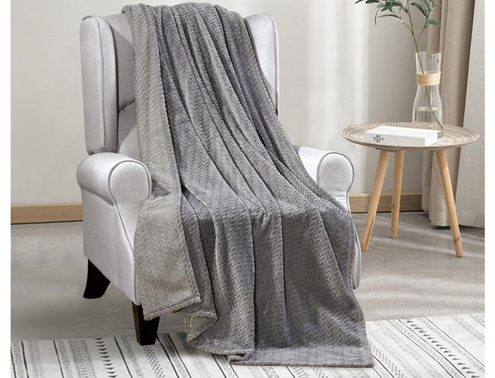 Daily Deals Chevron Jacquard Braided Oversized Throw Blanket Blankets