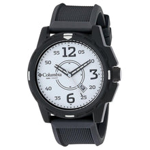 Columbia Descender Men's Analog Quartz Black Silicone Band Watch Watches