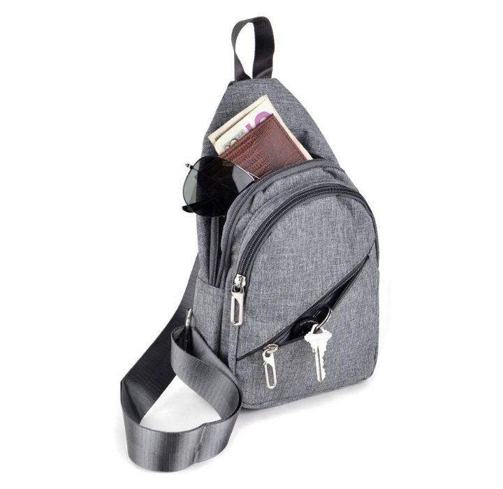 Daily Deals Crossbody Sling Bag Backpacks Charcoal