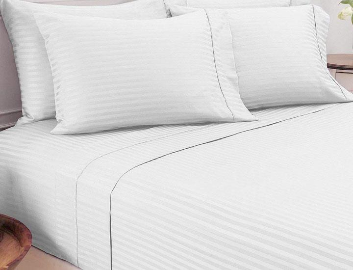 Daily Deals Damask Stripe 600 TC Egyptian Cotton 6-Piece Sheet Set (Clearance) Bed Sheets