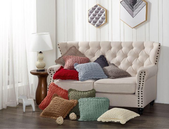 Daily Deals Donna Sharp Chunky Knit Throw Pillow Throw Pillows