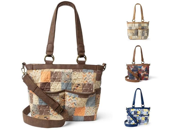 Daily Deals Donna Sharp Ellie Cotton Quilted Tote Bag Handbags