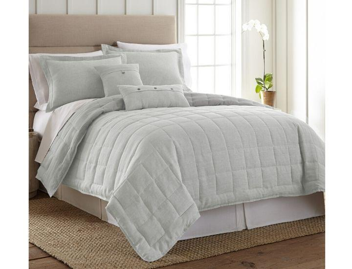Daily Deals Donna Sharp French Linen 3-Piece Comforter Set Quilts & Comforters