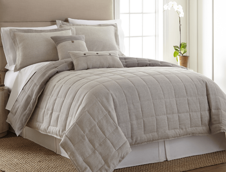Daily Deals Donna Sharp Natural Linen 3-Piece Full/Queen Comforter Set Quilts & Comforters