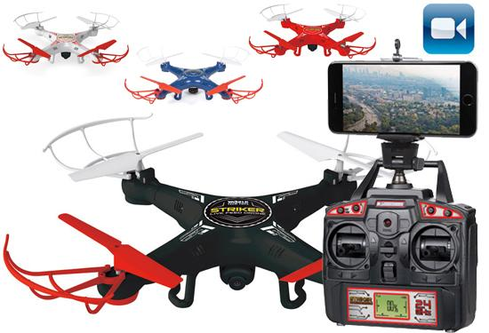 Striker RC Spy Drone with Live-Feed Video Camera Remote Control Helicopters