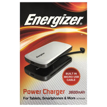Energizer 3,600mAh Rechargeable Power Pack with Built-In Micro USB Cable  - UntilGone.com