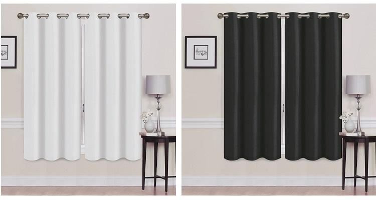 2 Panels Thermal Energy Saving Madonna Blackout Curtains