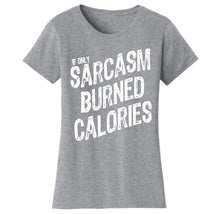 Women's Gym Workout Humor Funny T-Shirts Shirts & Tops Sarcasm - Grey/White Print / S