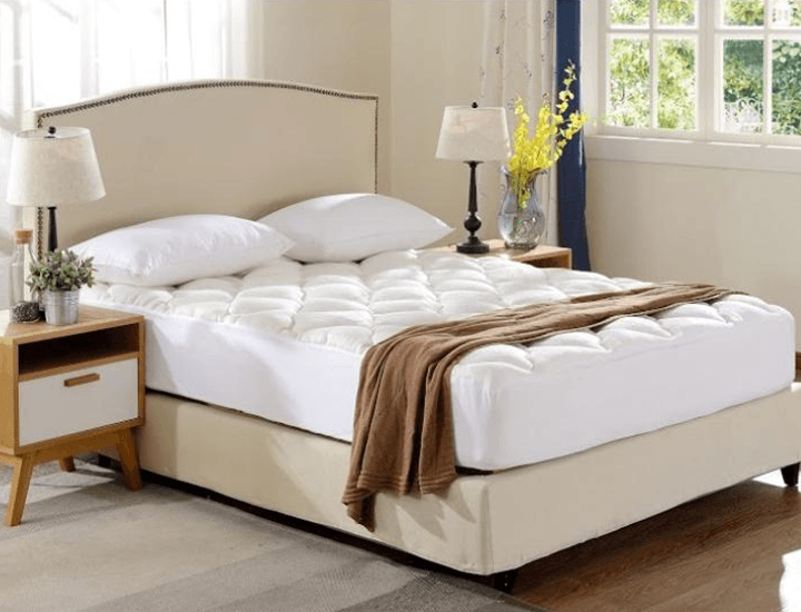 Daily Deals Fitted Bamboo Fabric Mattress Topper Mattress Pads