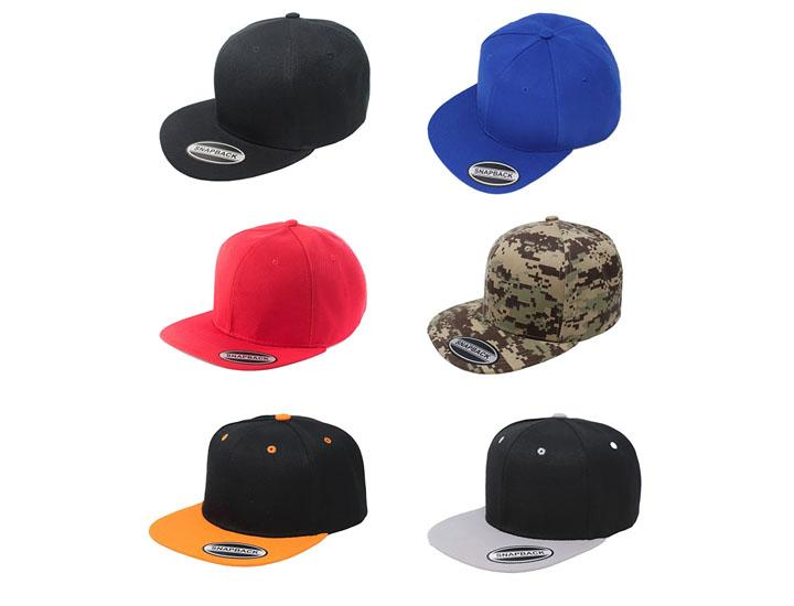 Daily Deals Flatbrim Adjustable Snapback Cap (6-Pack) Hats