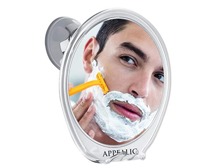 Daily Deals Fogless Shower Mirror with Bonus Scissors and Tweezers Face Mirrors