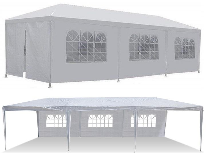 White 10-ft x 30-ft Gazebo Canopy Tent (5 or 8 Removable Walls)