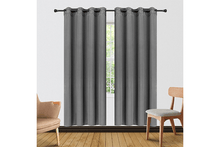 "[2-Panels] Blackout and Thermal Insulation Curtains – 2 Lengths Curtains & Drapes 63"" Length - Gray"