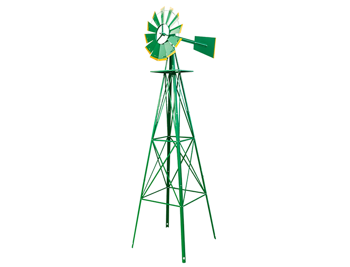 Daily Deals Green 8-foot Weather Resistant Yard Windmill Wind Wheels & Spinners
