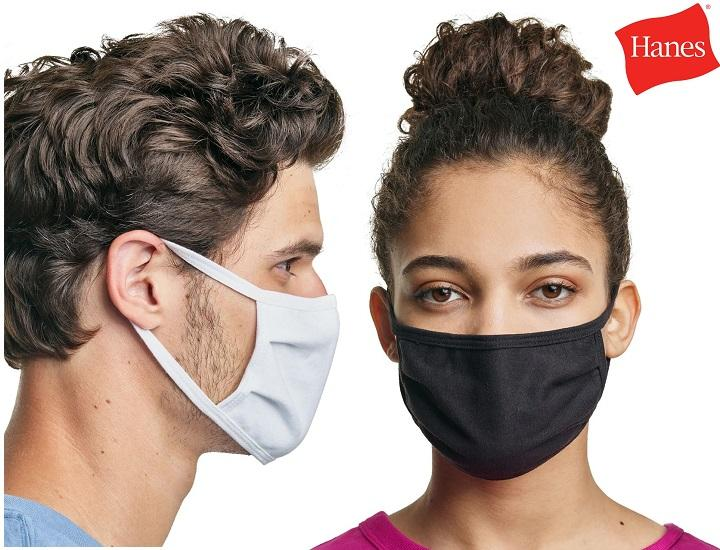 Daily Deals Hanes Moisture-Wicking Cotton Masks (5-Pack to 50-Pack) Protective Masks