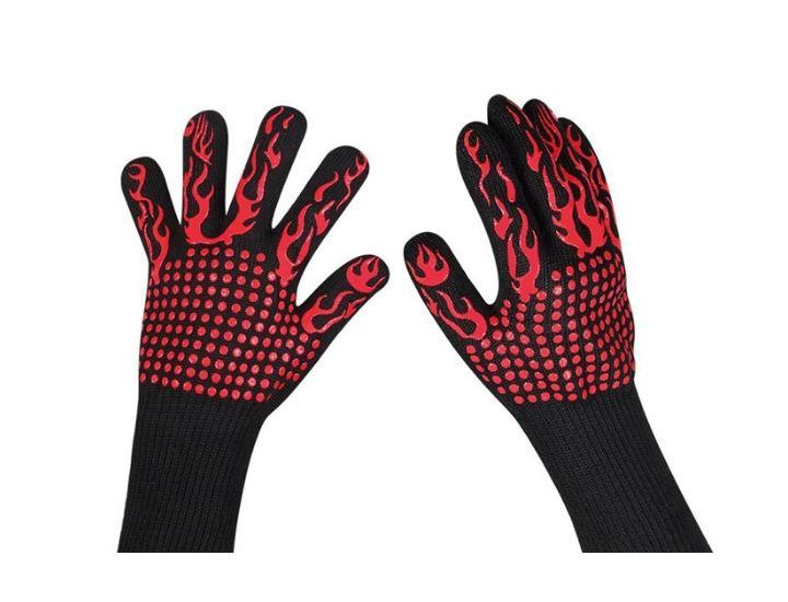 Daily Deals Heat Resistant BBQ Gloves Outdoor Grill Accessories