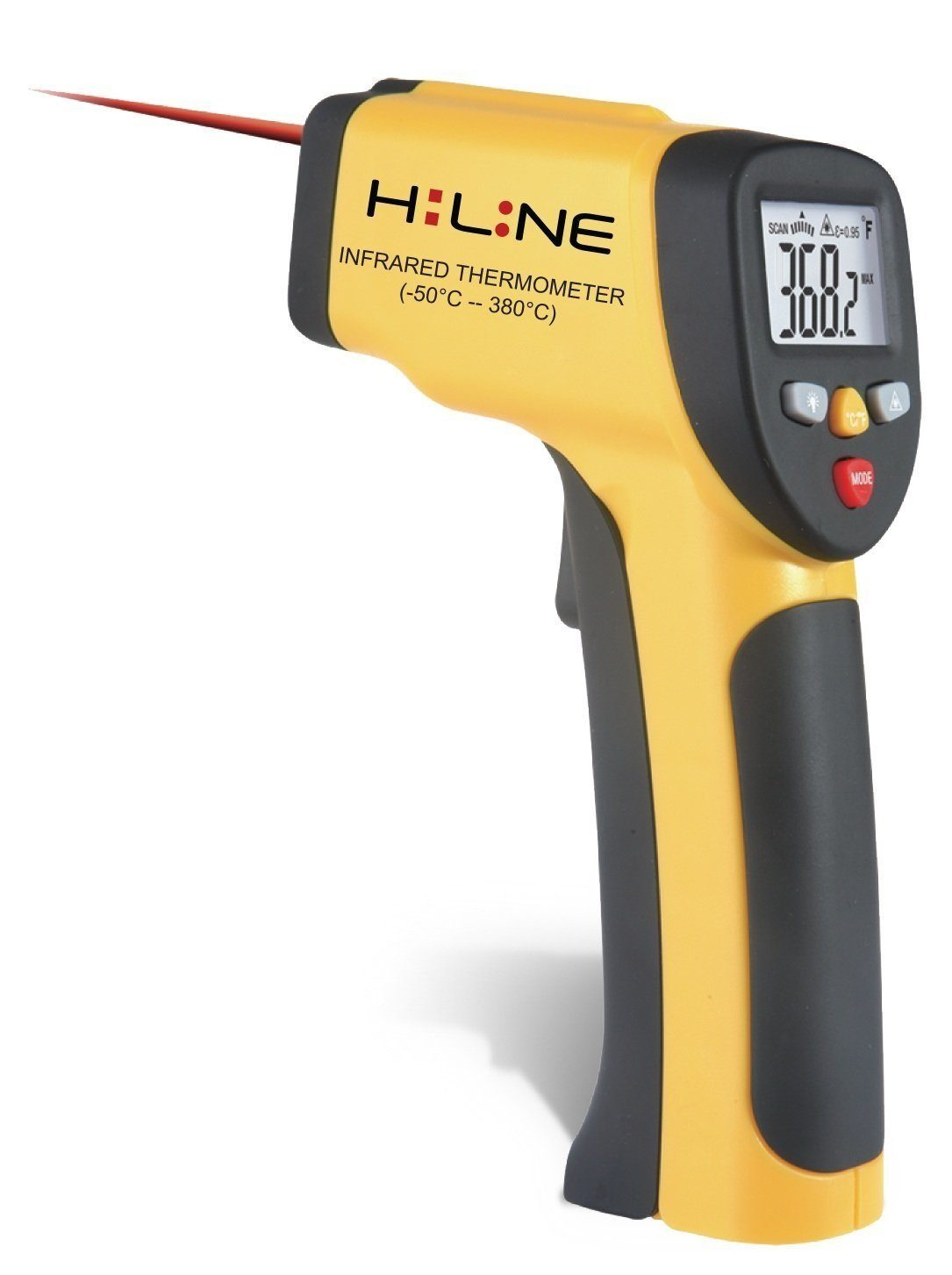 HiLine Non-Contact Handheld Infrared Thermometer with LCD Screen
