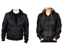 RNZ Premium Designer Men's Faux Leather Jacket - 2 Styles Coats & Jackets