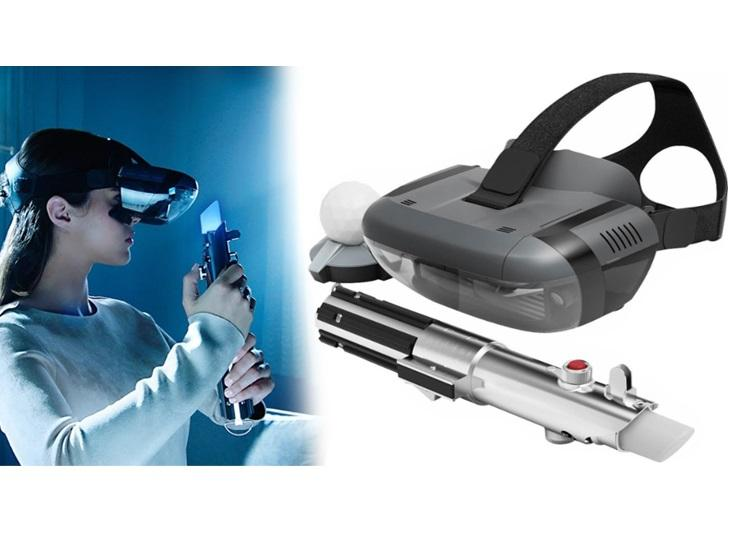 Star Wars Jedi Challenges AR Headset with Lightsaber & Tracking Beacon Remote Control Toys