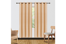 "[2-Panels] Blackout and Thermal Insulation Curtains – 2 Lengths Curtains & Drapes 63"" Length - Khaki"
