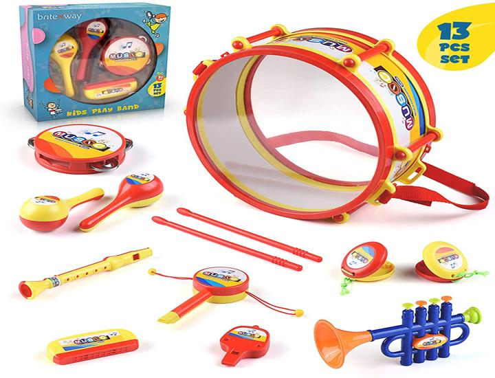 Daily Deals Kids' 13-Piece Musical Instrument Set Toy Instruments