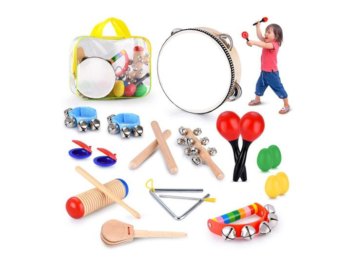 Daily Deals Kids' 21-Piece Percussion Instrument Set Toy Instruments