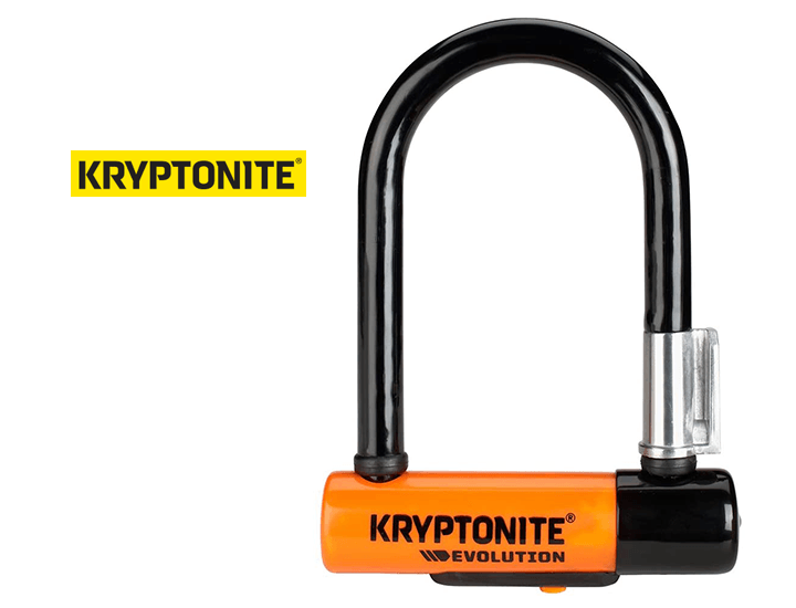 Daily Deals Kryptonite Evolution Mini-5 U-Lock Bicycle Lock with FlexFrame-U Bracket Locks & Keys