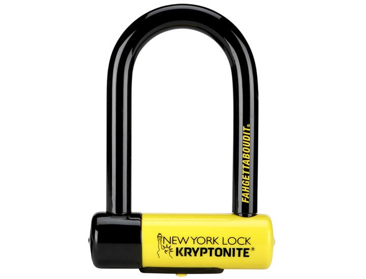 Daily Deals Kryptonite New York Fahgettaboudit Mini U-Lock Bicycle Lock Bicycle Locks